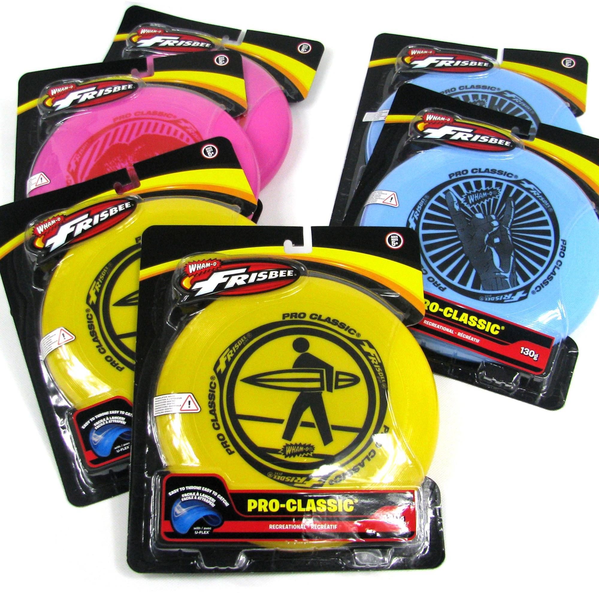 6x WHAM-O FRISBEE Wurfscheibe Pro Classic 130g
